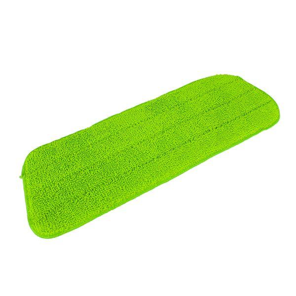 Refil para mop em poliéster verde 40x14cm DCasa