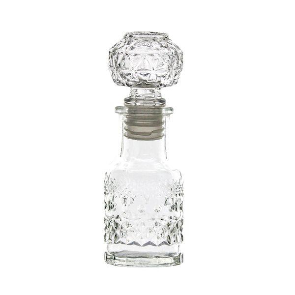 Garrafa decorativa vidro 12cm DCasa