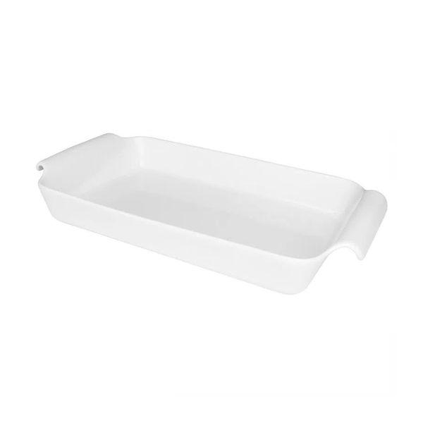 Travessa refratária retangular gourmet ao forno 2.6 litros branca oxford