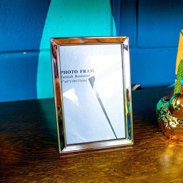 Porta retrato metal 10x15cm prata 901-7553 DCasa