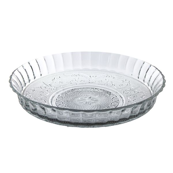 Prato em vidro com borda alta 30cm DCasa