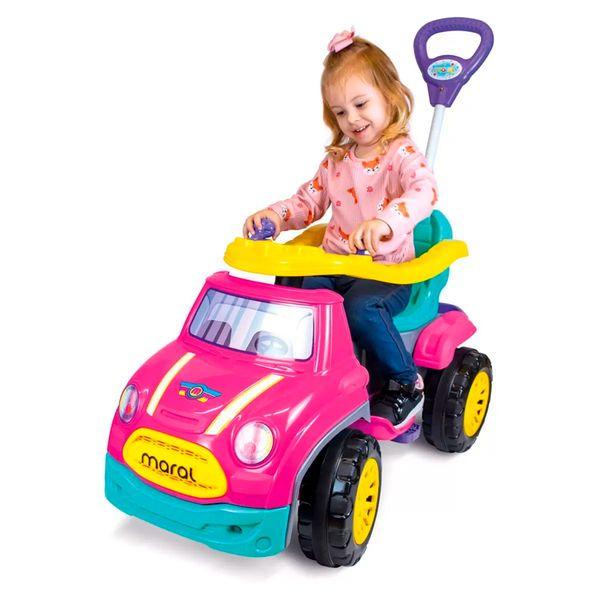Carro sportcar pedal rosa Maral