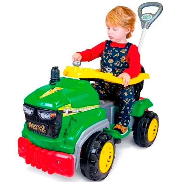 Carro tractor agro pedal verde Maral
