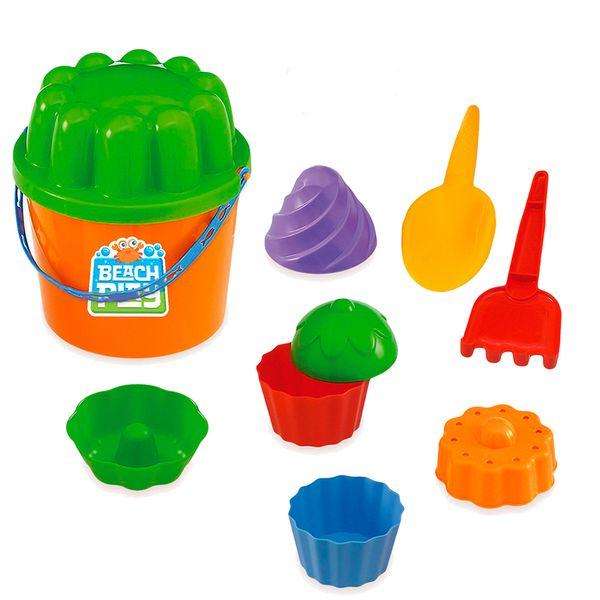 Jogo praia balde e acessórios beach play Usual Plastic